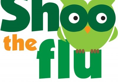 Shoo the flu logo